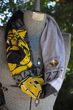 Mizzou Tigers Upcycled TShirt Infinity Scarf by … @ The fever List
