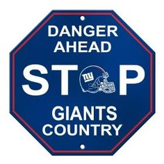 New York Giants Team Color State Cutout Wooden Sign 12x12
