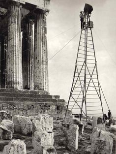 Frederic Francois Boisson was the first foreign photographer in Greece. He spent three decades taking photos of Greece's villages and landscapes. Old Photos, Vintage Photos, Kai, Magnified Images, Athens Acropolis, Athens Greece, Greek History, Ancient History, Frederic