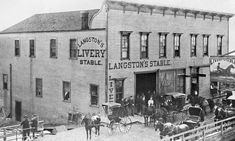 The other day I received an e-mail from a True West reader asking several questions about how a livery stables operated. For example if a person rented. Old West Photos, Life Photo, Stables, Wild West, American History, Westerns, Real Life, Old Things, Street View