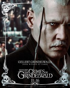 Fantastic Beasts: The Crimes of Grindelwald - Gellert Grindelwald Character Poster Harry Potter Cosplay, Harry Potter Fandom, Harry Potter Characters, Harry Potter World, Film Fantastic, Fantastic Beasts Movie, Fantastic Beasts And Where, Johnny Depp Fantastic Beasts, Gellert Grindelwald