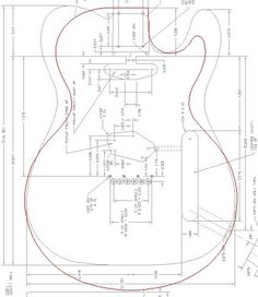 les paul top carving template - free pdf guitar blueprints lutheria pinterest