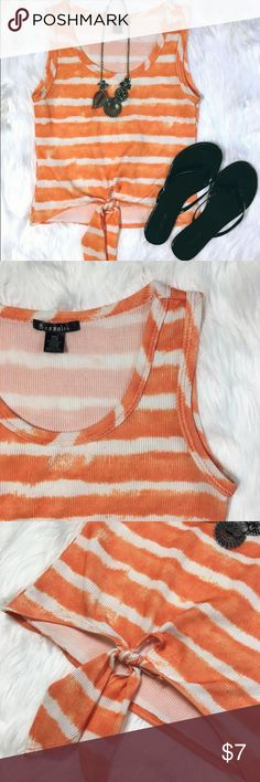NWOT Tie-Dye Striped Tank Top Shirt New without tags! Ties at the bottom. Size small. Tops Tank Tops