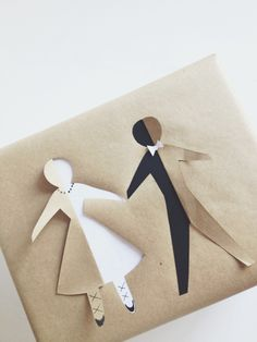 His & Her cutouts, ideal for wedding gifts or bridal showers. 9 Cute DIY Gift Wrap Ideas | All Gifts Considered