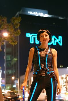 Awesome Tron Costume Using EL Film Strips