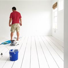 ke a zillion tutorials out there on how to do these floors with everyone tweakin. - home // flooring: - Plywood Plank Flooring, Painted Plywood Floors, Diy Flooring, Bedroom Flooring, Hardwood Floors, Arne Jacobsen, White Washed Floors, Eames, Painting Concrete