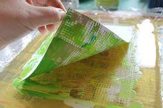 Gelli printing Gelli Printing, Printmaking, Plates, Tableware, Prints, Tutorials, Painting, Magic, Color