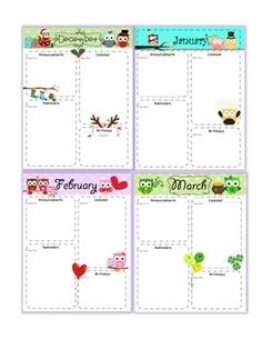Owl Monthly Newsletter Templates                                                                                                                                                                                 More