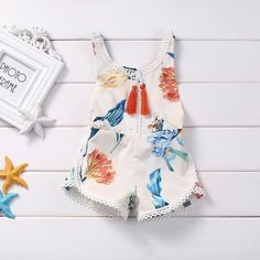 Cheap baby romper jumpsuit, Buy Quality baby rompers directly from China rompers rompers Suppliers: Summer Toddler Infant Kids Baby Girls Clothes Summer Sleeveless Floral Cotton Tassels Baby Romper Jumpsuit Floral Clothes Outfit Kids Outfits Girls, Toddler Outfits, Girl Outfits, Jumpsuits For Girls, Girls Rompers, Baby Rompers, Baby Girl Romper, Baby Girl Newborn, Baby Bodysuit