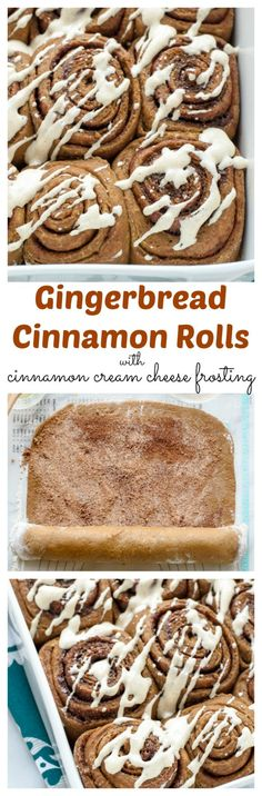Gingerbread Cinnamon Rolls with Cinnamon Cream Cheese Frosting (scheduled via http://www.tailwindapp.com?utm_source=pinterest&utm_medium=twpin&utm_content=post257695&utm_campaign=scheduler_attribution)
