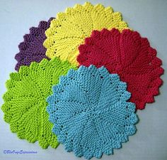 Round Dishcloth...in case I lose my pattern! My favorite!