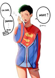 meanwhile J~Where's my long sleves shirt and my short pants Superhero Family, Superhero Memes, Superhero Cosplay, Bat Family, Damian Wayne, Marvel Dc Comics, Robin Comics, Dc World, Call My Friend