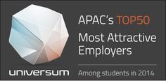 """Universum presents """"APAC's Most Attractive Employers 2014″ and Dell makes the grade across both Engineering/IT and Business categories. Thank you, students!"""
