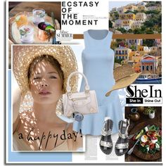 Style with Shein.com by hamaly on Polyvore featuring Billabong, Stila, Hedi Slimane, Whiteley and Sheinside