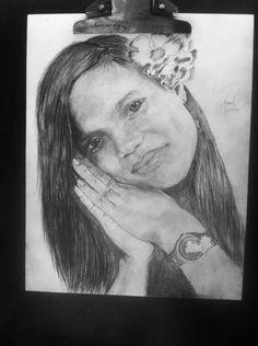 Coteyo.  My wife. Draw pencil  I love that