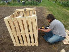 Building compost bin 3rd July