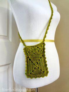 Fiber Flux...Adventures in Stitching: Free Crochet Pattern...Ruffle Travel Pouch