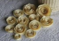 Handmade Spiral Paper Flowers for Scrapbooking, Mini Albums, Home Decor, Wedding Decor, Hair Clips, Centerpieces, Gift Topper