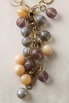 clusters like this in diff color ways attached to bracelets by lobster clasp.