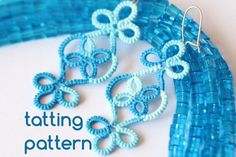 PDF Vineyard earrings - tatting pattern by littleblacklace - instant download - shuttle tatting