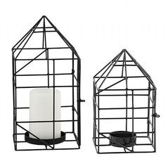 House Candle Holder Set in Black | Available at www.LETLIV.co.nz