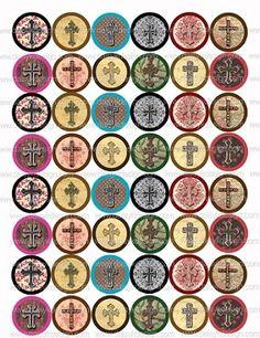 Bottle Cap Images - Crosses, perfect for the season!