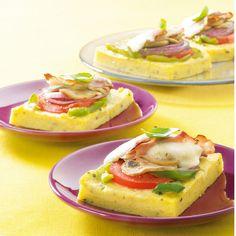 Pavés de polenta aux légumes et speck | Recette Minceur | Weight Watchers