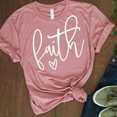 Faith Shirt, Now faith is the substance of things hoped for, the evidence of things not seen. (Hebrews 11:1)  Faith has carried us through some of life's most trialing times, and we're pretty sure it's done the same for many of you! We hope you'll be encouraged when you rock this soft + comfy Faith tee!