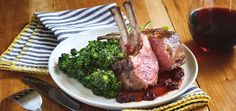 This recipe by Spoon Fork Bacon has a sour cherry gastrique with an oven roasted rack of lamb and roasted broccolini....so simple! Make it at home.