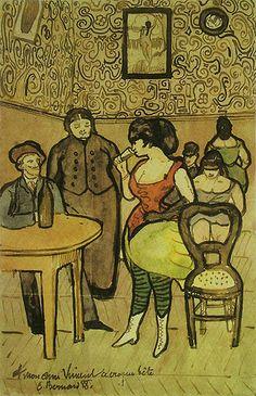 Emile Bernard - Escena de burdel