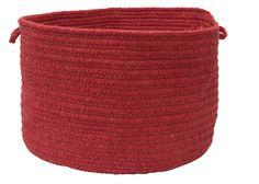 Bristol Round Braided Basket, WL16 Red