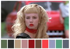 Beat it creep Traci Lords as Wanda in Cry Baby Movie Color Palette, Colour Pallete, Color Combos, Color Schemes, Color Palettes, Cry Baby Movie, Cinema Colours, Twitter Design, John Waters