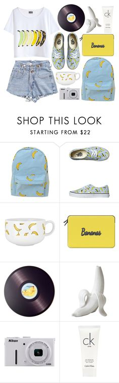 """Visually a.peel.ing"" by rheeee ❤ liked on Polyvore featuring Chicnova Fashion, Vans, Casetify, Joseph Joseph, Jonathan Adler, Nikon and Calvin Klein"