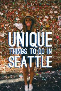 Did you know Seattle has tons of unique things to do you won't find anywhere else? From people throwing fish, hot tub boats, giant trolls, and mini golf bars to name a few. Check out all the different things you can do in Seattle here. Seattle Washington, Washington Things To Do, Things To Do Seattle, Seattle To Do, Washington State Tourism, Seattle Places To Visit, Places To Go In Washington State, Seattle Gum Wall, Seattle Bars