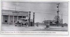 Estación de gasolina. Maracaibo, 1930 / Gas station. Maracaibo, 1930