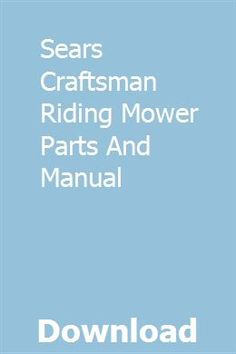 20 Best Craftsman Riding Lawn Mower images in 2017