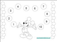 Mickey Mouse and Other Character Reward Chart - free b&w printables that you can color