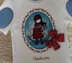 Camiseta Gorjuss Azahara 1 T Shirts For Women, Sewing, Mens Tops, Box, Fashion, Scrappy Quilts, Tela, Embroidered T Shirts, Custom T Shirts
