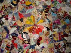 IN THE FOLD: Antique Crazy Quilts - Floral Quilt