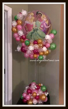 Princess balloon centerpiece www.elegantballoons.com