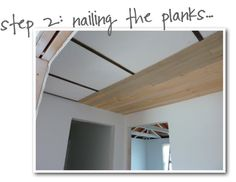 Cover up popcorn ceiling with 1/4-inch-thick junk plywood and paint white. (I want to do this to several rooms at my house!)