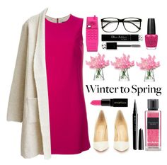 """Winter to Spring Layers"" by hajni0103 ❤ liked on Polyvore featuring LSA International, Dolce&Gabbana, Christian Louboutin, Smashbox, OPI, Moschino, Victoria's Secret, Christian Dior, Marc Jacobs and Wintertospring"