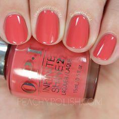 OPI In Familiar Terra-tory   Spring 2016 Infinite Shine Collection   Peachy Polish #red/orange