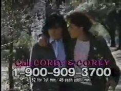 Corey Haim and Corey Feldman's fan hotline: | The 30 Weirdest 1-900 Numbers From The '80s