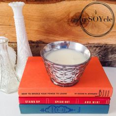 ALERT!! Volcano candle dupes @ http://reSOYcle.etsy.com  Upcycled vintage glassware =) Mercury Glass Inspired Starburst Soy Candle Bowl  by reSOYcle, $20.00