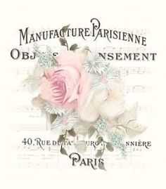 COMPOSICIÓN postal manufacture pasement rosa paris