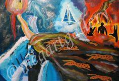 Artist: Kratimenou Konstantina Title: dreamer 100x70dim mixed media price:700euro Joomla Templates, Fingerprints, The Dreamers, Mixed Media, Gallery, Artist, Blog, Painting, Painting Art
