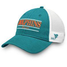 1e9309b6a3ecc5 Men's Miami Dolphins NFL Pro Line by Fanatics Branded Aqua/White Primary  Bar Trucker Adjustable