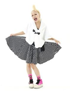 Dotted Flare One-Piece / See more at http://www.cdjapan.co.jp/apparel/new_arrival.html?brand=SLV #harajuku