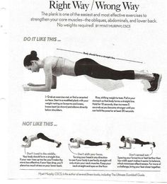 Plank - killer ab exercise (chiropractor approved)